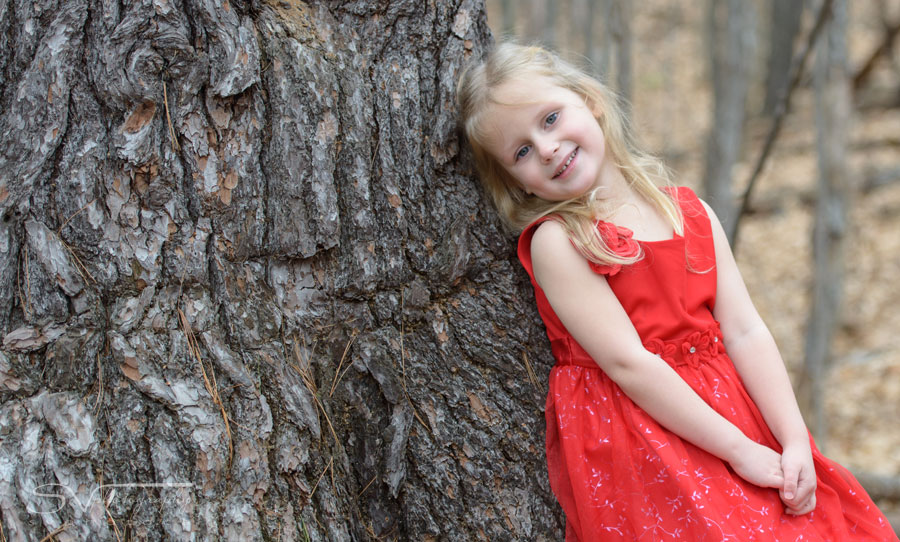 red dress children portrait