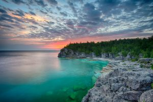 bruce peninsula national park sunrise