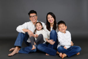 Family Portrait in Markham Studio