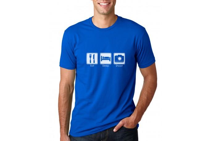Eat Sleep Shoot Men's T-Shirt Royal
