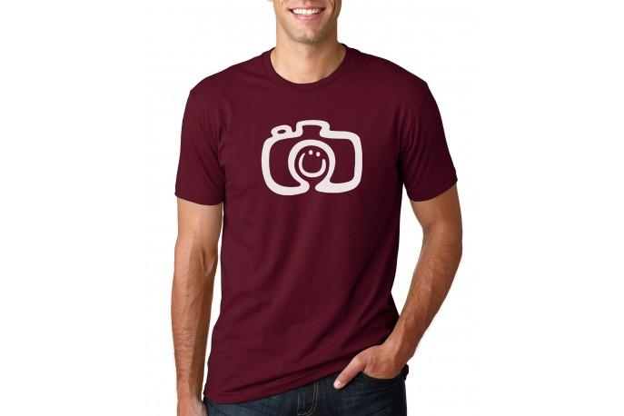 Smiling Camera Men's T-Shirt Maroon