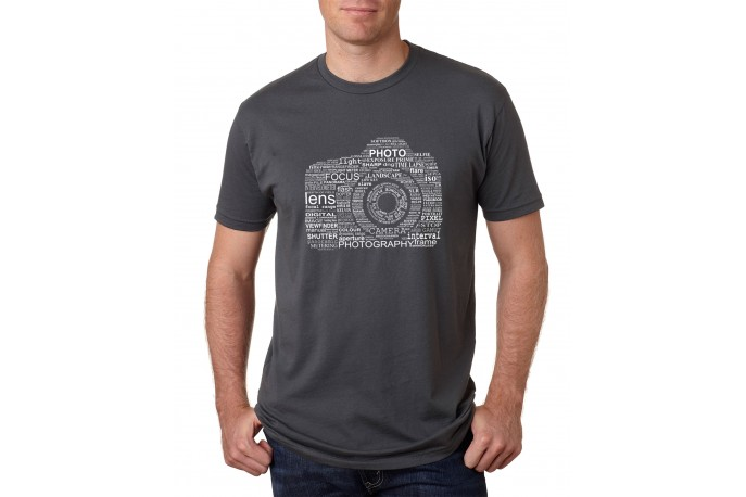 Camera Word Cloud T-Shirt Men's Heavy Metal