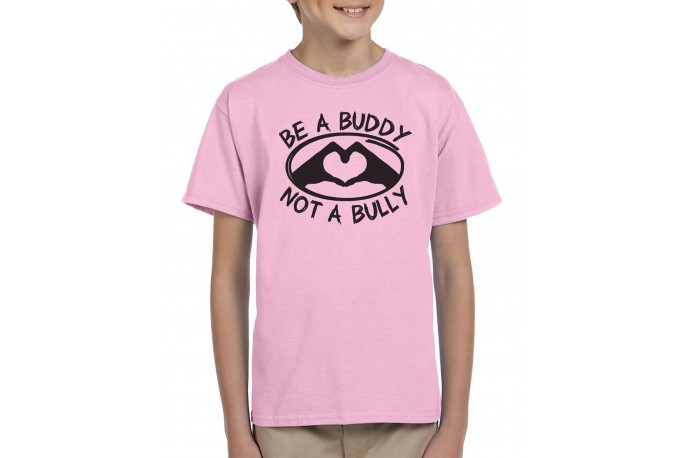 Be a Buddy Not a Bully T-Shirt Youth Black Text