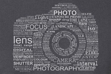 Camera Word Cloud T-Shirt