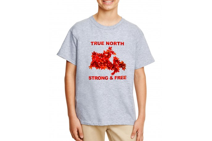 True North Strong and Free Youth T-Shirt