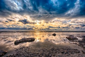 dramatic cloud formations over lake ontario landscape photography
