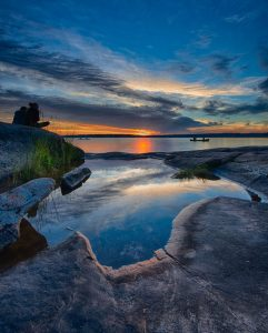 sunset at harold point in killbear provincial park ontario landscape photography