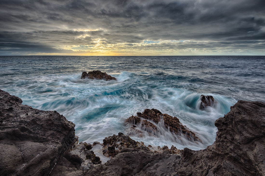 """""""Turbulent"""" The water beyond the cove is treacherous, with high surf and strong currents. Purchase a print of this image in the shop"""