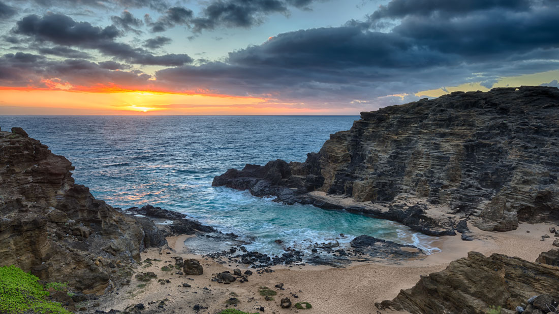 """""""Eternity Beach"""" The view from the road above Halona Cove Beach (aka Eternity Beach) at sunrise. Purchase a print of this image in the shop."""