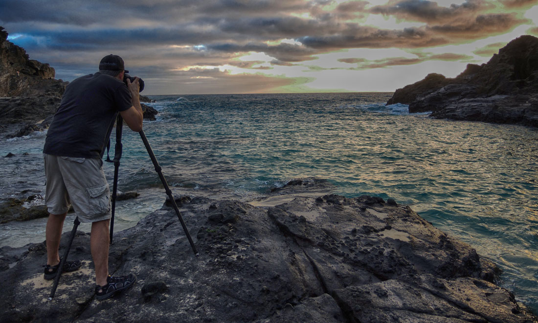 A behind the scenes look at Halona Cove Beach